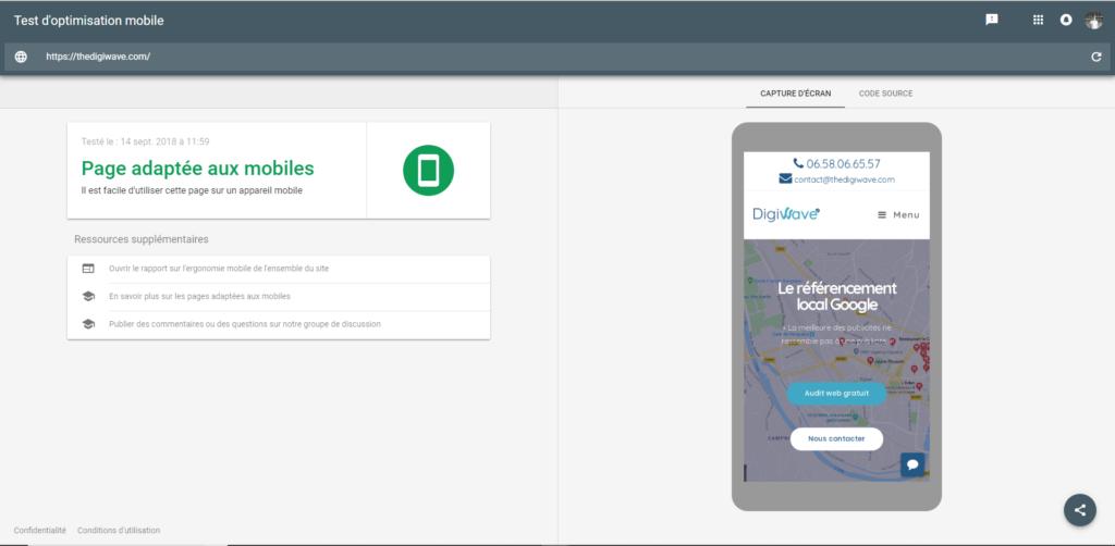 mobile friendly test google comment savoir référencement local